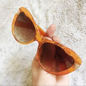 Orange Glitter Sunglasses